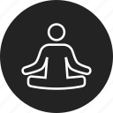 guru, lotus, position icon