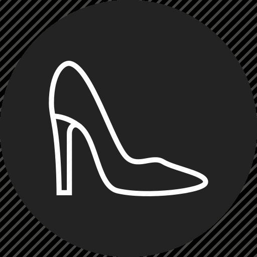 shoe, woman icon