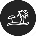 beach, holiday, rest, vacation icon