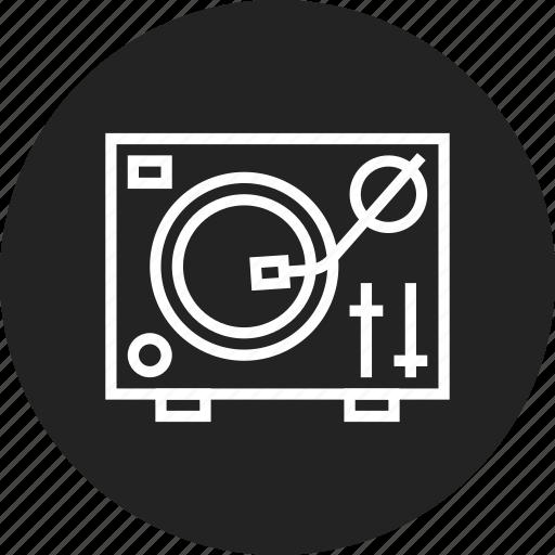 dj, turntable icon