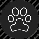 animal, track icon