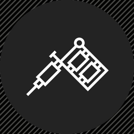 machine, salon, tattoo icon