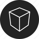 box, cube, polygon, square icon