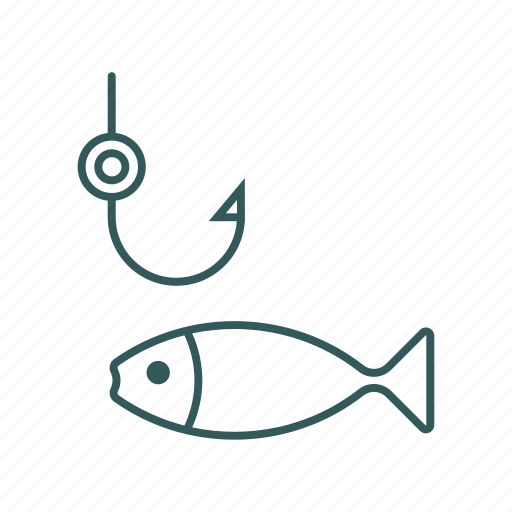 active, cook, fish, fishing, hook icon
