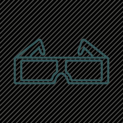 active, cinema, effect, glasses, movie icon icon