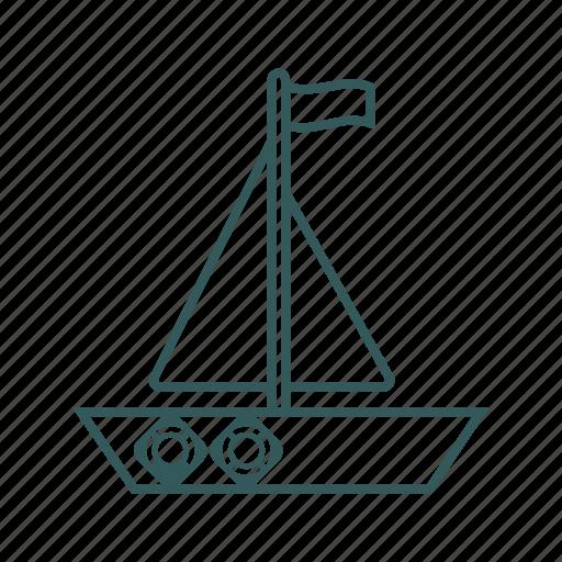 active, boat, sea, ship, travel icon icon
