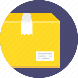 box, cardboard, carton, delivery, package, packaging, ship icon
