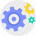 cogwheel, configure, control, gear, settings, teamwork icon