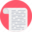 document, file, note, paper, script, text icon