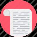 document, file, note, paper, script, text