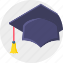 degree, graduation, graduation hat, university icon