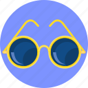 accessories, bright, cool, eyes, glasses icon