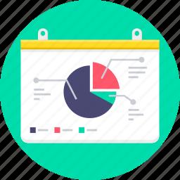 analysis, analytics, graph, powerpoint, presentation, report icon