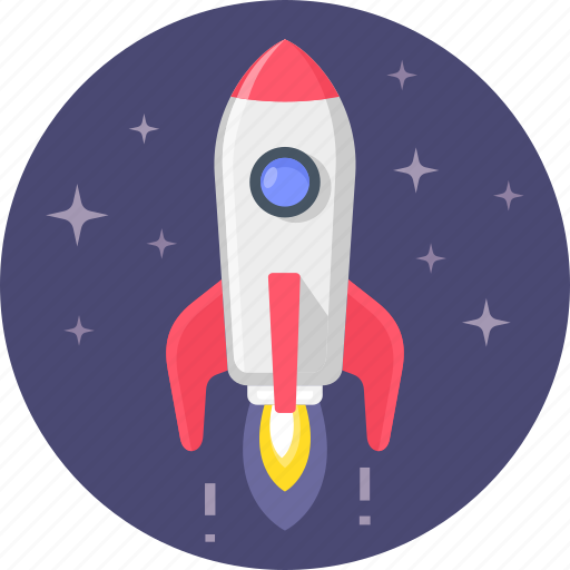 astronomy, business, rocket, space, spaceship, startup icon