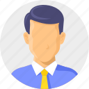 account, avatar, businessman, man, office, user icon