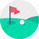 ball, flag, game, golf, hole, play, sport icon