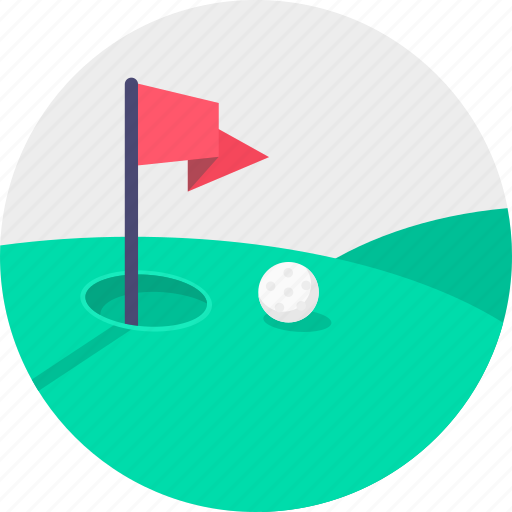 ball, flag, game, golf, hole, play, sport icon