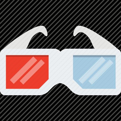 cinema, dimension, dimensional, film, glasses, movie, three icon