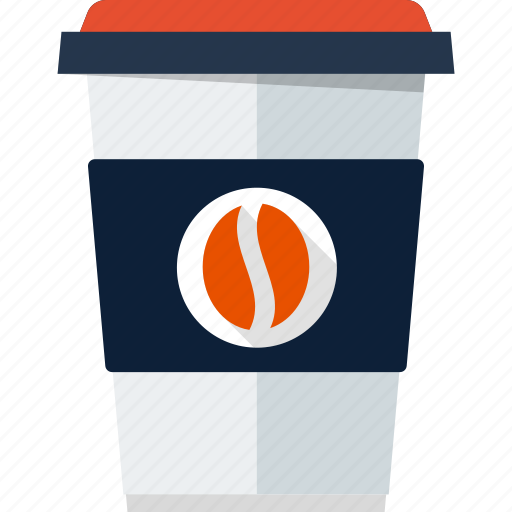 coffee, coffee cup, cup, disposable, mug, paper, takeaway icon