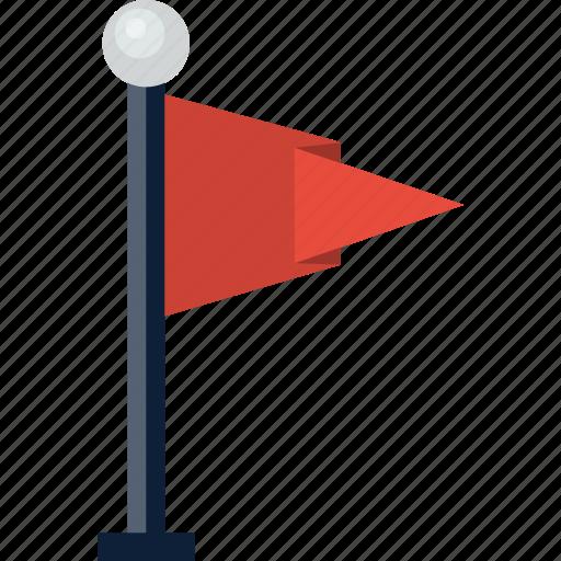 Destination, flag, golf, location, pole icon - Download on Iconfinder