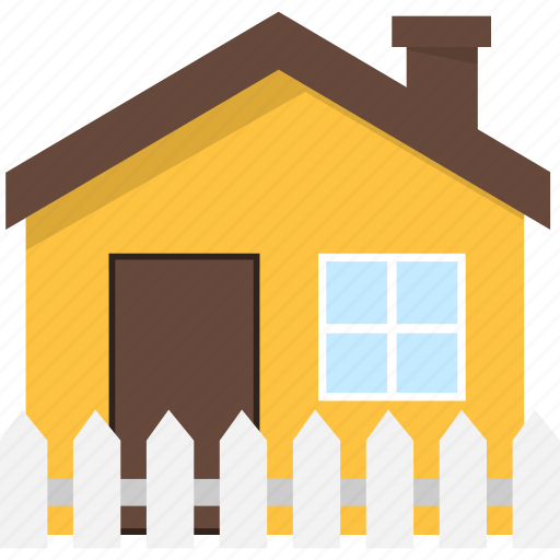 Building, estate, fence, home, house, real icon - Download on Iconfinder