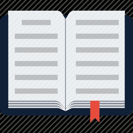 book, bookmark, education, learn, open icon