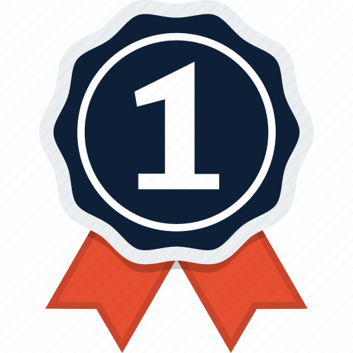 Award, badge, first, ribbon, rosette icon - Download on Iconfinder