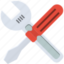 driver, screw, screwdriver, settings, spanner, tools, wrench icon
