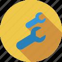 mechanic, mix, tool, wrench icon