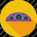 dashboard, mix, speed, speedometer icon