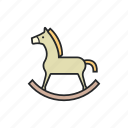 play, ride, shake, toy horse icon