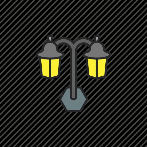bright, lamp, light, street light icon