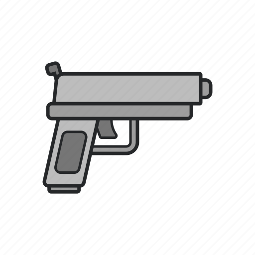 bullet, gun, shot, weapon icon