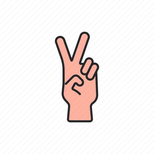 fingers, hand, peace, victory icon