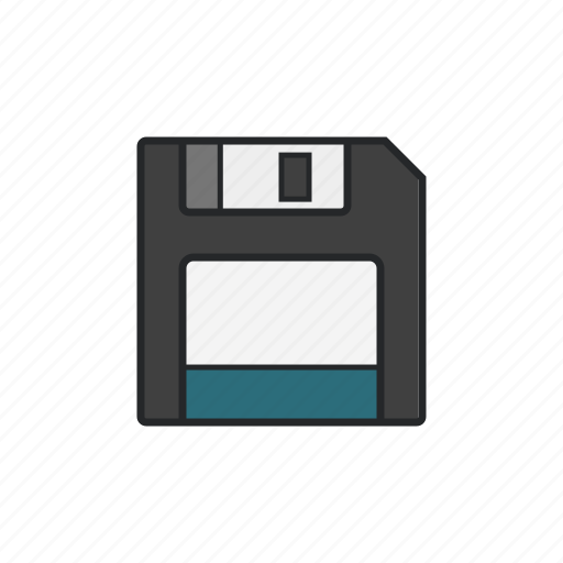 diskette, file and document, memory, safe icon