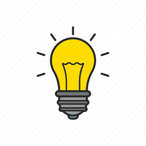 ideas, lamp, light, thoughts icon