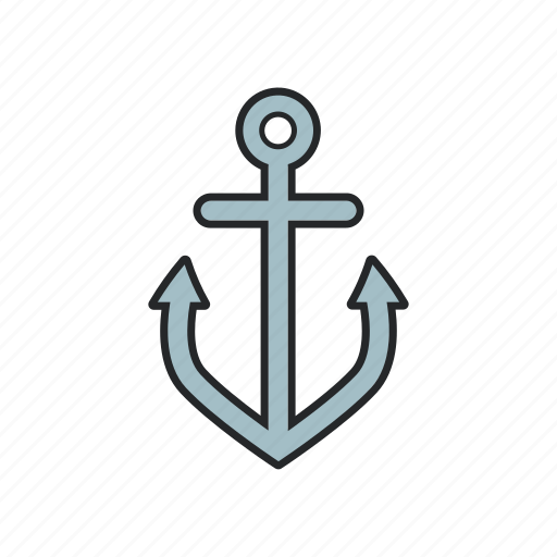 anchor, big anchor, sailor, ship icon