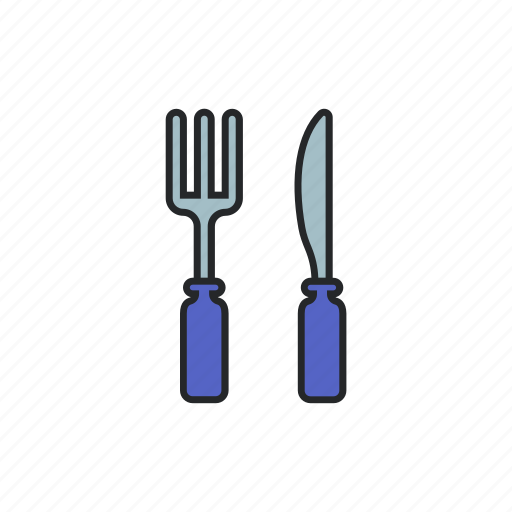 fork, fork and spoon, kitchen tool, spoon icon