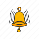 bell, bell ring, golden bell, ringing icon