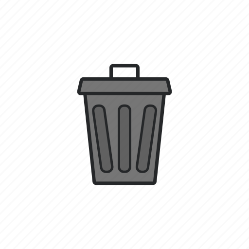 can, garbage, rubbish, trash can icon