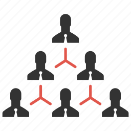avatars, businessmen, connection, group, hierarchy, management, people icon