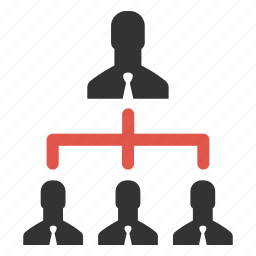 businessmen, connection, group, hierarchy, management, people, users icon