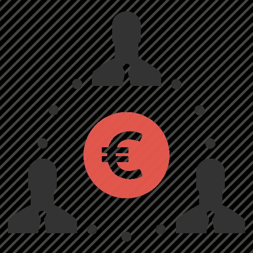 earnings, finance, group, income, money, people, salesmen icon