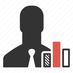 analysis, business, businessman, chart, graph, person, statistic icon
