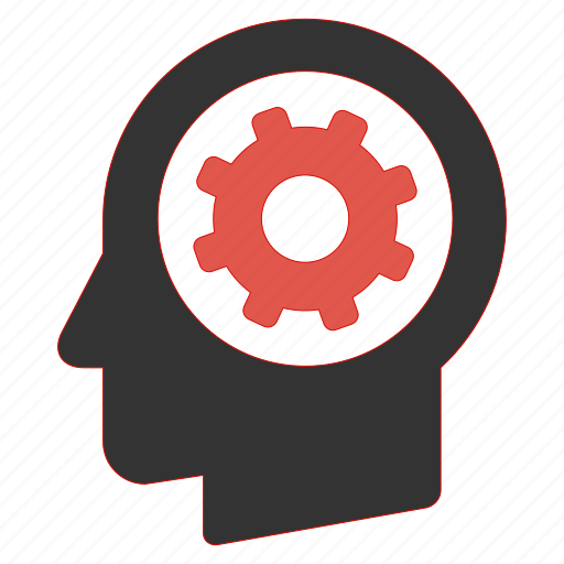 gear, head, help, management, process, productivity, support icon
