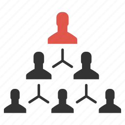 community, group, hierarchy, management, men, people, team icon