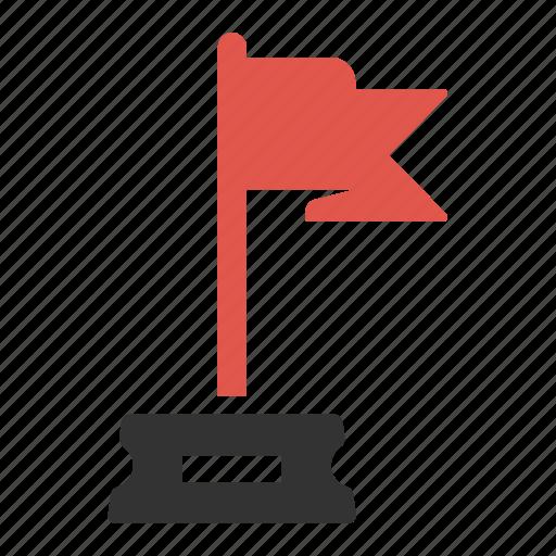 achievement, banner, finish, flag, flagged, goal, success icon