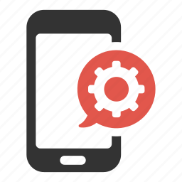 cog, optimization, options, phone, process, settings, support icon
