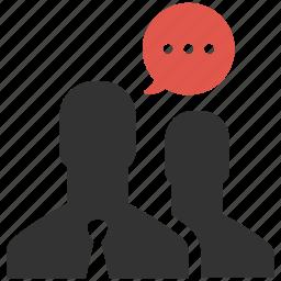 businessman, chat, communication, conversation, people, speech, talk icon