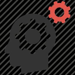 configure, head, idea, process, productivity, settings, support icon